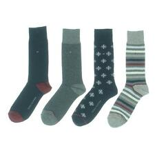 Tommy Hilfiger 2312 Mens Navy Various Pattern Light-Weight Crew Socks 7-12 BHFO