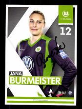 Jana Burmeister Autogrammkarte VfL Wolfsburg 2014-15 Original + A 135532