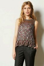 New Anthropologie Merriment Beaded Top by Carnation Lily Lily Rose SMALL *Rare