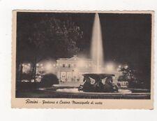 Rimini Fontana e Casino Municpale di Notte Italy 1944 Postcard 927a