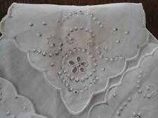 Vintage Madeira Embroidered Linen Bun Warmer Doily NWT