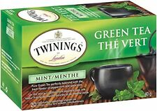 Twinings Green Tea, Mint, 20 Count Bagged Tea (6 Pack), New, Free Shipping