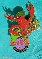 NEW ORLEANS ROCKIN THE BIG EASY CRAWFISH BEANIE GUITAR PLAYER Hard Rock Cafe PIN
