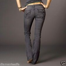 $99 Fox Racing Women's Propane Boot Cut Jeans - Grey Charcoal sz 0/24