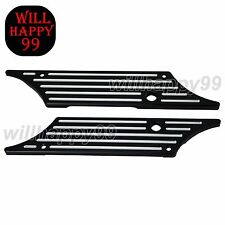 Billet Hard Black Saddlebag Bags Latch Cover Face For Harley Touring 1993-2013