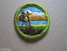 Hiking Merit Badge BSA Woven Cloth Patch Badge Boy Scouts Scouting