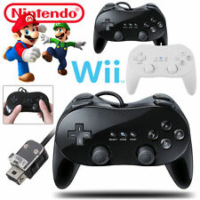 Classic Wired Gamepad Remote Pro Game Controller For Nintendo Wii & Wii U Black