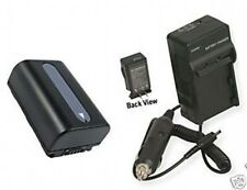Battery + Charger for Sony DCRSR58E DCRSR68 DCR-SR68E
