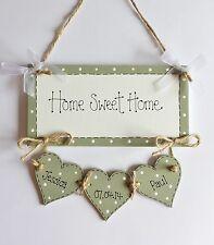 """Personalised New Home Family """"Home Sweet Home"""" Plaque Sign Gift Keepsake"""