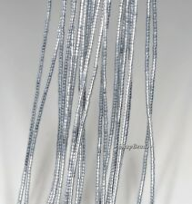 1X1MM SILVER HEMATITE GEMSTONE HEISHI RONDELLE SLICE 1X1MM LOOSE BEADS 16""