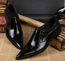 New England Style Fashion Mens Genuine Leather Pointed Toe Dress Formal Shoes