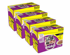 Whiskas Kitten Pouch Multipack 12x100g Poultry Selection In Gravy x 4 (48 pouch)