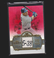 2013 TOPPS TRIBUTE TRIBUTE OF THE STARS RED DEREK JETER GAME USED RELIC 4/10