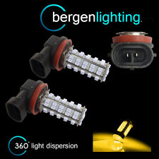 2X H8 YELLOW 60 LED FRONT FOG SPOT LAMP LIGHT BULBS HIGH POWER XENON FF500401