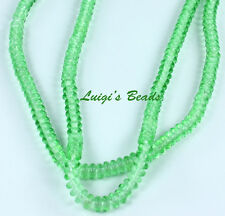 100 Peridot Czech Glass Rondelle Rondell Spacer Beads 4mm