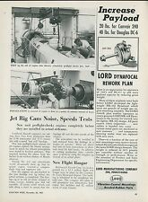 1951 Aviation Article Lockheed Aircraft Jet Engine Tests F-94 & T-33 Trainer