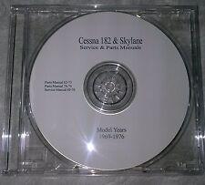 Cessna 182 & Skylane 1969-1976 Service & Parts Manuals on CD-PDF's
