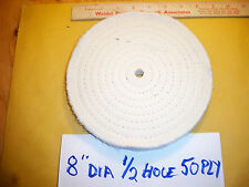 """Extra-Wide 3/4""""-Thick 8"""" 50-Ply Cotton Buffing Polishing Wheel 1/2"""" Arbor Hole"""
