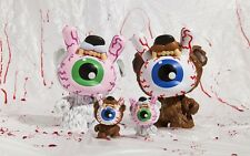 "RARE: Kidrobot Mishka Keep Watch 3"" Bad News Dunny Bear Brown or White Kodiak"