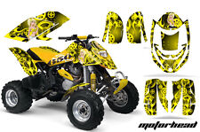 CanAm Bombardier DS650 AMR Racing Graphic Kit Wrap Quad Decal ATV All MANDY YLLW