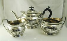 Georgian style tea set Elkington plate tea pot cream jug sugar bowl dated 1909
