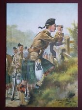 POSTCARD HARRY PAYNE - THE BLACK WATCH - LOOKING FOR THE ENEMY