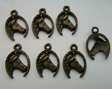 20pcs bronze plated horse charms pendant 21x15 mm