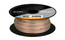 50ft. 12 AWG Ga Oxygen Free Pure Bare 99.99% Copper Speaker Wire Cable 50 Feet