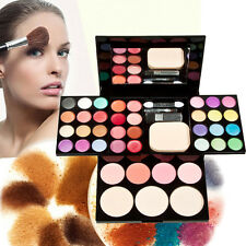 Blusher Lip Gloss Shimmer Eyeshadow Palette Makeup Kit Brush Mirror Cosmetic Set