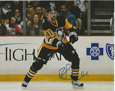 Pittsburgh Penguins Robert Bortuzzo Signed Autographed 8x10 NHL Photo COA C