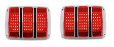 1964 1965 1966 Mustang LED Tail Lights pair complete kit with Bezels Housings