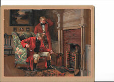 Fox Hunters, Fire Place, Roasting Chestnuts, Living Room, Pipes Coyright 1910
