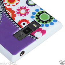 LG Splendor Venice US730 CANDY SKIN TPU GEL COVER CASE ZIPPER WHITE CANDY