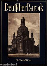 *- Die BLAUEN Bücher - Deutscher BAROCK - Wilhelm PINDER tb (1953)