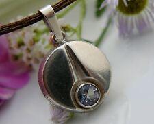Anhänger 925° Silber von Finn Feelings echter Bergkristall Finnland um 1970 A236