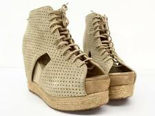 Jeffrey Campbell MARY ROK ESPADRILLE Shoe Tan Suede Platform Wedge Free People 7