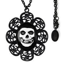 Misfits Crimson Skull Glenn Danzig Horror Punk Black Glass Filigree Necklace