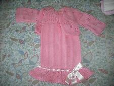 girls hand knitted dress and cardigan,6-9 months.