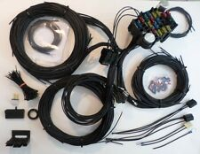 21 Circuit EZ Wiring Harness ALL BLACK CHEVY Mopar FORD Hotrods UNIVERSAL X-long