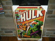 "VINTAGE HUGE HULK 1ST FULL WOLVERINE COMIC #181 COVER WALL ART PICTURE 24"" X 36"""