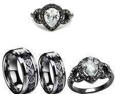 Palmbeach Jewelry 305 TCW Cz925 Sterling Silver 3piece Bridal