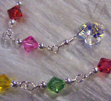 Wedding Bridal 925 Sterling Silver Swarovski Crystal Bracelet Choose color 14k