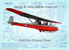 "model Airpland Plans 54"" Towline Glider Vintage from1958 F/S Printed Plans"