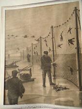 12660 Holzstich Vogelfang auf dem Eise an der vorpommerischen Küste Passepartout