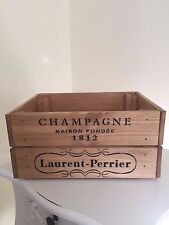 Vintage Wooden Laurent - Perrier  Champagne Wine Crate Box Storage Shabby Chic