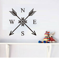 Arrow Compass Nautical Navigate Wall Sticker Decals Home Decor Bedroom Wall Art