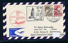 97087) LH FF Frankfurt - Hong Kong 14.1.74, Karte Dänemark Schiffspost