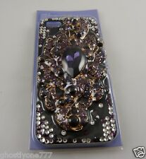 cover for Iphone 5  phone case peacock purple crystal bling Claires pretty