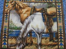 Point of view Horse Children Pillow panel Fabric 4 pp 2 of each border attached