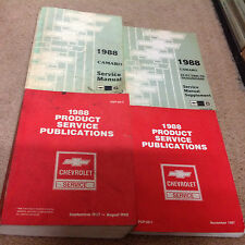 1988 CHEVY CHEVROLET CAMARO Service Shop Repair Manual Set W Electrical + Public